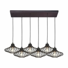 ELK Yardley 6 Light Pendant in Oil Rubbed Bronze EK-14240-6RC