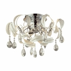 ELK Zebula 12 Light Semi Flush in White EK-31545-12