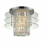 ELK Zoey 3 Light Semi Flush in Polished Chrome EK-31580-3