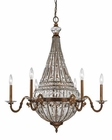 ELK Empire Collection 8+6 Light Chandelier in Mocha EK-46049-8-6