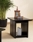 end Table in Black Finish Ebony by Somerton SO-624-02