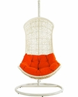 Endow Patio Lounge Chair in White, Orange by Modway MY-EEI805WO