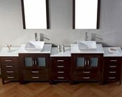 Espresso 11in Double Bathroom Set Dior by Virtu USA VU-KD-700110-S-ES