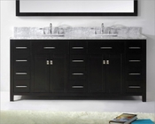 Espresso 72in Vanity Caroline Parkway by Virtu USA VU-MD-2172-CAB-ES