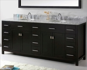 Espresso 78in Vanity Caroline Parkway by Virtu USA VU-MD-2178-CAB-ES