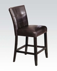 Espresso Counter Height Chair Baldwin by Acme AC07055 (Set of 2)