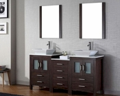 Espresso Double Bathroom Set Dior by Virtu USA VU-KD-70066-S-ES