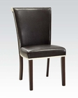 Espresso Finish Side Chair Jafar by Acme Furniture AC71532 (Set of 2)