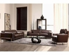 Espresso Leather Sofa Set 44LBO3946