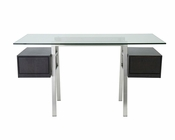 Euro Style Desk w/ Glass Top Collette EU-3035-D