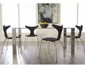 Euro Style Dining Set w/ Glass Table Beth EU-38700SET