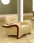 EuroDesign Almond Contemporary Leather Chair GF992CHAL