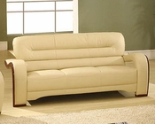 EuroDesign Almond Contemporary Leather Sofa GF992SAL