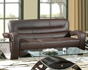 EuroDesign Brown Contemporary Leather Sofa GF992SBN