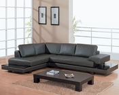 EuroDesign Dark Brown Modern Sectional Living Room Set GF729