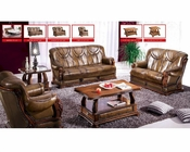 European Design Classic Sofa Set in Light Brown Finish 33SS181