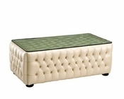 European Design Coffee Table in Ivory Finish 33SS55