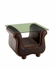 European Design End Table in Brown Finish 33SS66