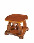 European Design End Table in Light Brown Finish 33SS156