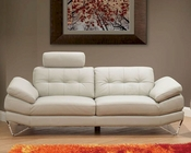 European Design Italian Leather Sofa in Light Warm Grey Finish 33SS172