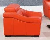 European Design Leather Chair in Orange Finish 33SS274