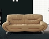 European Design Leather Sofa in Beige Finish 33SS92