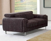 European Design Loveseat in Brown Finish 33SS143