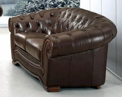 European Design Loveseat in Brown Finish 33SS63
