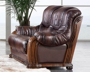 European Design Loveseat in Light Brown Finish 33SS153