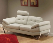 European Design Loveseat in Light Warm Grey Finish 33SS173