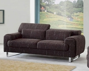 European Design Modern Sofa in Brown Finish 33SS142