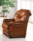 European Furniture Chair in Light Brown Finish 33SS44
