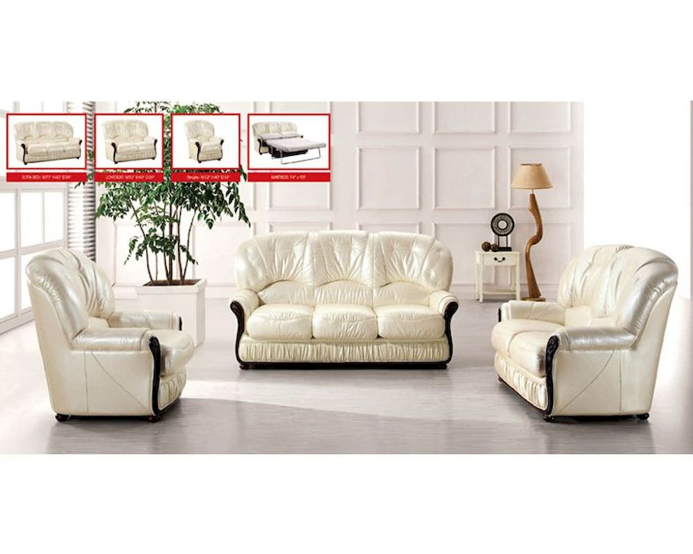 European Furniture Italian Leather Sofa Set 33ss31