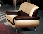European Furniture Modern Two Tone Loveseat 33SS13