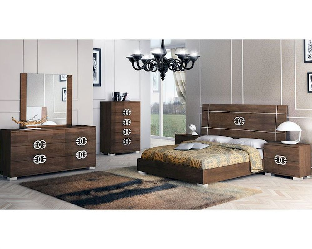 European style bedroom set in high gloss 33b621 for European style bedroom
