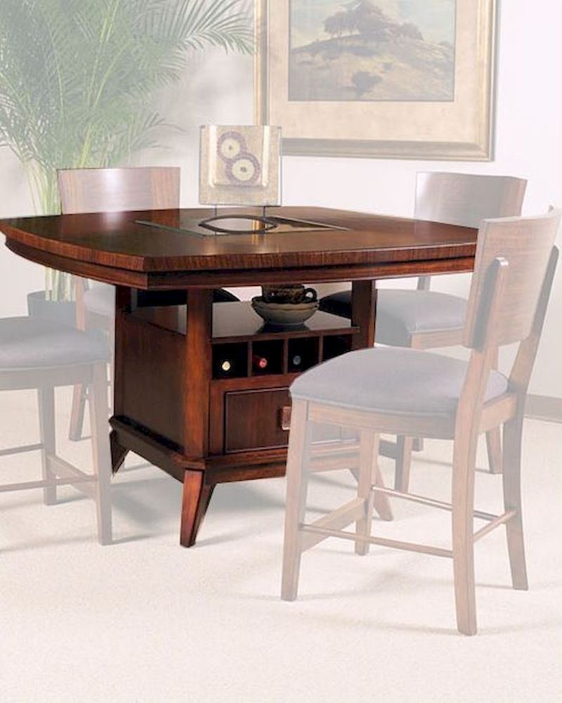 European Style Counter Height Table Perspective By