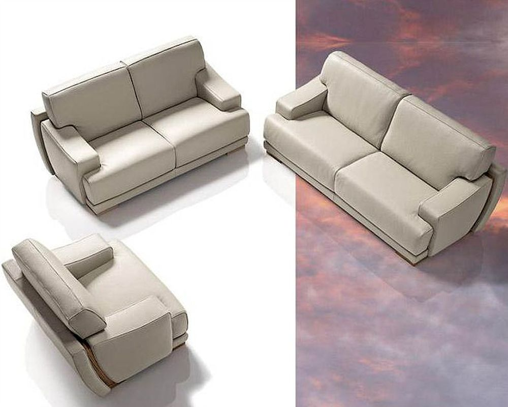 exclusive luxurious full italian leather sofa set 44lpnt - Italian Leather Sofa