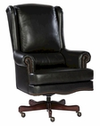 Executive Chair in Black Leather by Hekman HE-79254B