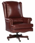 Executive Chair in Merlot Leather by Hekman HE-79254M