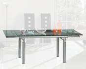 Extension Dining Table w/Glass Top OL-DT06