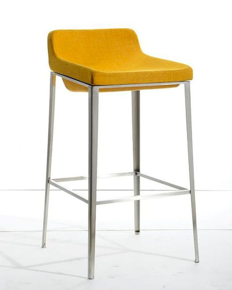 Fabric Bar Stool In Modern Style 44br105 F