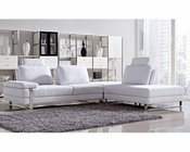 Fabric Pull-Back Seats Sectional Sofa Set in Modern Style 44L6058