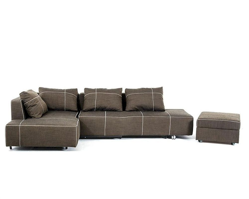 Fabric Sectional Sofa W Chaise In Contemporary Style 44l6035