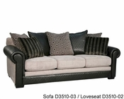 Fairmont Designs Loveseat Dunhill in Black FA-D3510-02