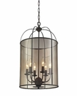 ELK Fenton 6 Light Chandelier in Oil Rubbed Bronze EK-31398-6