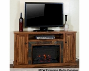 Fireplace Media Console Sedona by Sunny Designs SU-3488RO