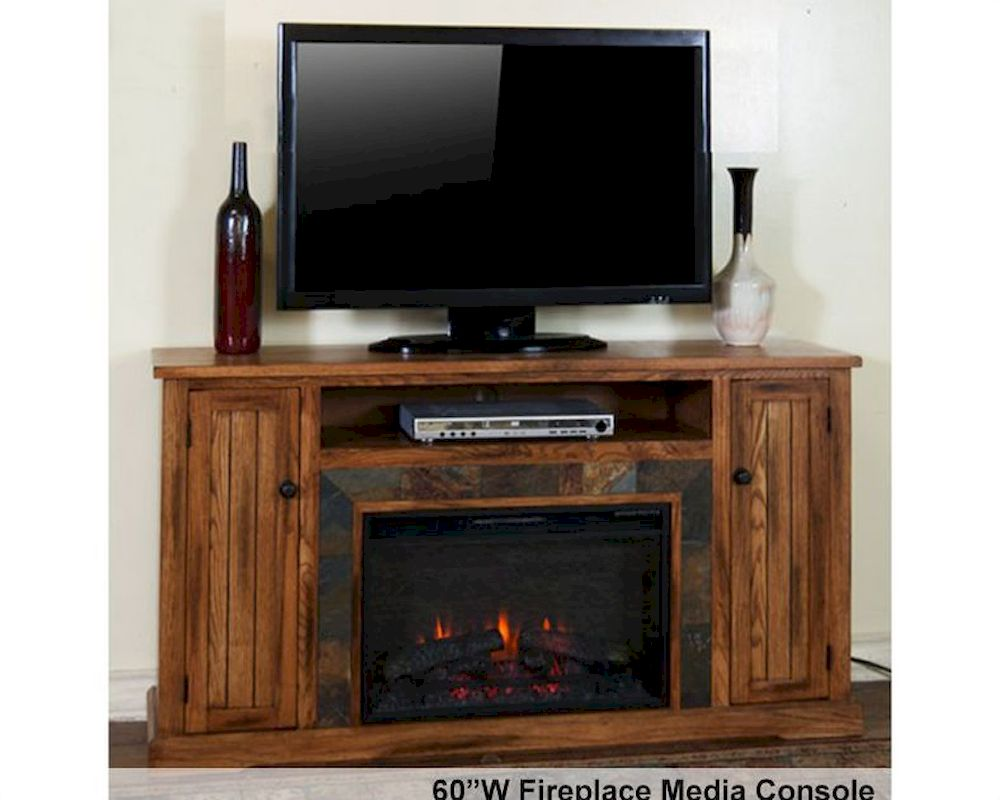 Etonnant Fireplace Media Console Sedona By Sunny Designs SU 3488RO