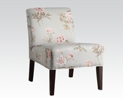 Floral Finish Accent Chair by Acme Furniture AC59306