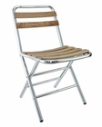 Folderia Indoor-Outdoor Dining Chair in Silver by Modway MY-EEI746