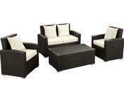Fountain Patio Sofa Set in Espresso White by Modway MY-EEI974EW